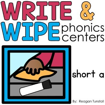 Write and Wipe Short Vowels Bundle