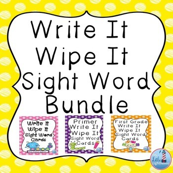 Write and Wipe Sight Word Bundle