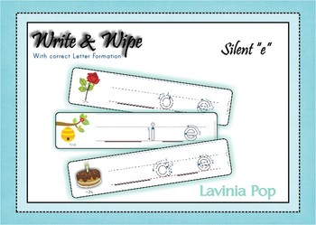 Write and Wipe - Silent e cards {FREE}