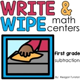 Write and Wipe Subtraction First Grade