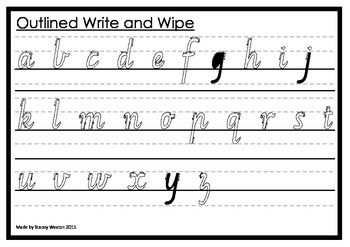 Write and Wipe - Victorian Modern Cursive Outline Arrowed