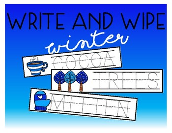 Write and Wipe - Winter Words
