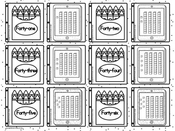 Write and Wipe with Numbers 1 thru 50 and MORE Black and White