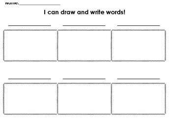 Write and draw words