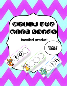 Write and wipe cards bundle