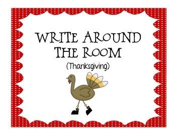 Write around the room (Thanksgiving)