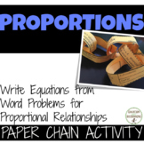 Proportion Word Problems Paper Chain Activity