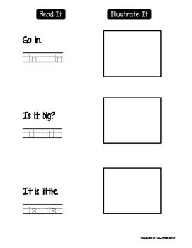 Write, find, graph, read, illustrate it IS IN IT