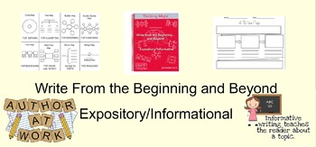 Write from the Beginning: Expository-Informational