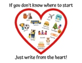 Write from the heart, Narrative Writing Poster