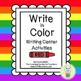 Write in Color ~Writing center activities and materials
