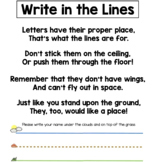Write in the Lines Handout