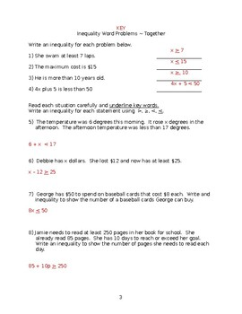 Write inequality from word problem.
