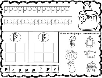 Spanish Alphabet Worksheets: Write it, Cut and Paste It, and Color It
