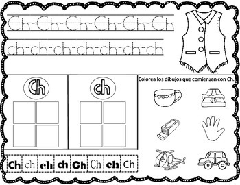 Spanish Alphabet Worksheets Write it, Cut and Paste It ...