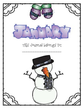 Write it! January Journal Prompts, Word Lists, and Cover Pages