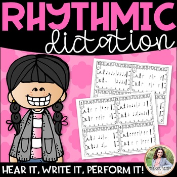 Write it! Rhythms! for Elementary Music Students {Rhythm Cards & Slides in 4/4}