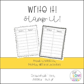 Write it, Stamp it