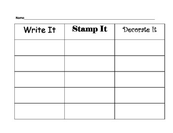 Write it! Stamp it! Decorate it!