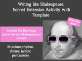 Write like Shakespeare: Sonnet Extension Activity
