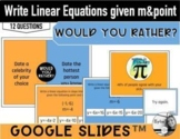 Write linear equations in slope intercept form given slope