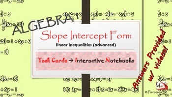Linear Functions - Linear inequalities in slope intercept form