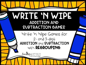 Write 'n Wipe Addition and Subtraction Games
