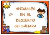 Write noun animals SAHARA DESERT (SPANISH) / Escritura ani