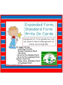 Write on Cards: Expanded Form, Standard Form