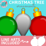 {Write on} Christmas tree ornaments clipart