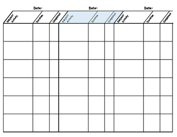 Write-on Homeschool Planner