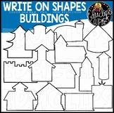 Write on Picture Shapes - Buildings Clip Art Bundle {Educlips Clipart}