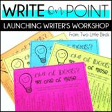 Writers Workshop: Launching Writer's Workshop Unit