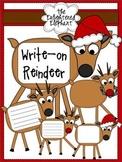 Write-on Reindeer Clip Art