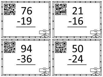 Addition and Subtraction Task Cards | With and Without Regrouping | Math Center