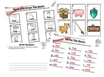 Write (or Read and Draw) the Room/CVC Short O