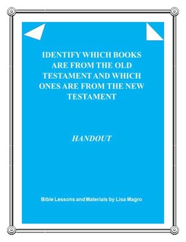 Old & New Testament books of the Bible Handout - Print & Go