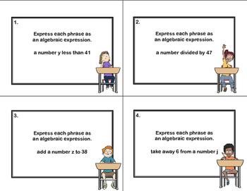 Write the Algebraic Expression Scoot