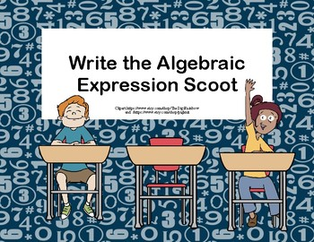 Write the Algebraic Expression Scoot