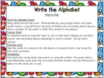 Write the Alphabet A to F