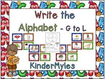 Write the Alphabet G to L
