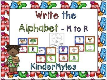 Write the Alphabet M to R