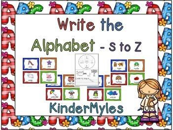Write the Alphabet S to Z