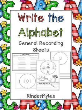 Write the Alphabet Sampler and Recording Sheets {Freebie}