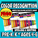 Write the Colors Activity Sheet