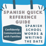 Quick Reference Guide to Writing the Date in Spanish and Spanish School Words