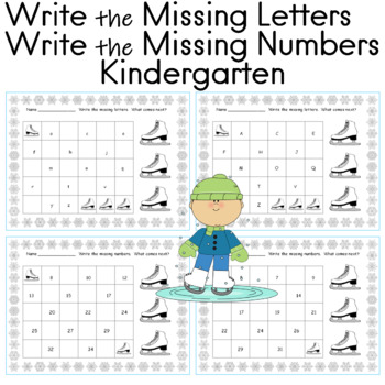 Write the Missing Letters Write the Missing Numbers