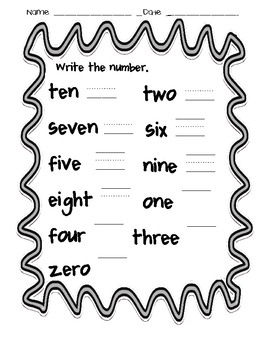 Write the Number Word - Read the Number Word