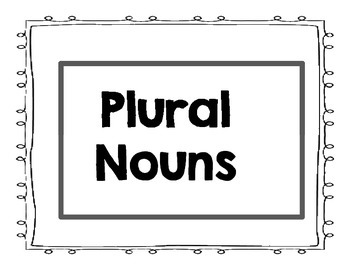 Write the Plural Noun PPT
