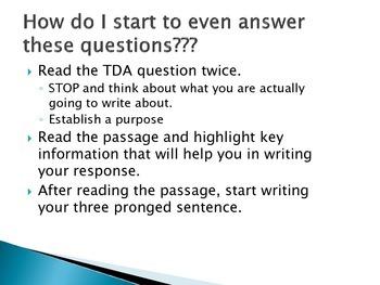 Write the Rainbow TDA Response Strategy